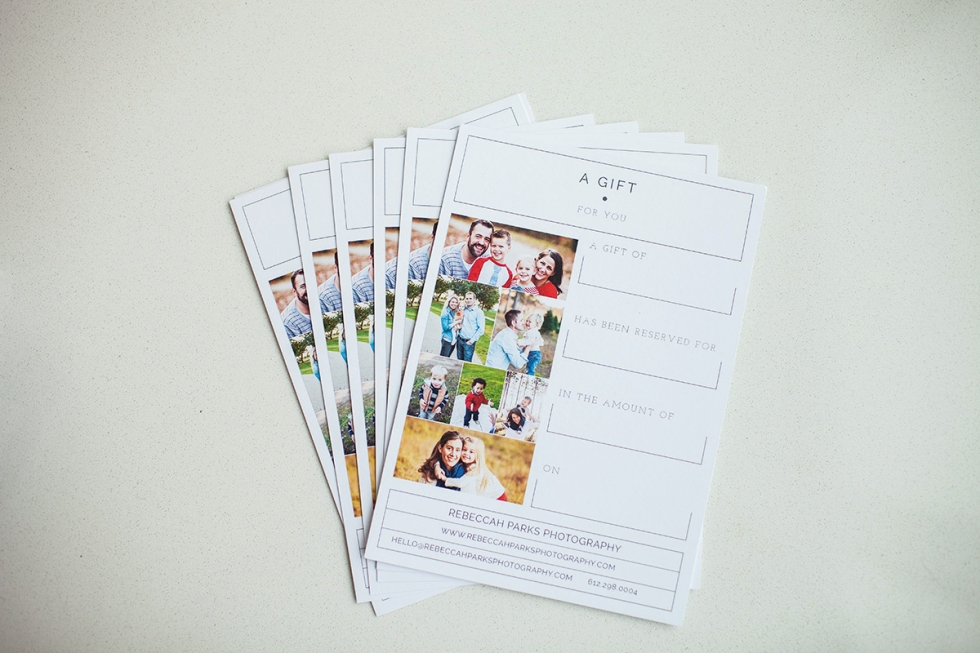 Minneapolis Photography Gift Certificates